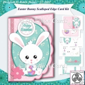 Easter Bunny Scalloped Edge Card