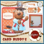 Congradulations Shaped Fold Card Kit