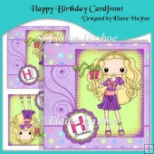 Happy Birthday Cardfront With Decoupage