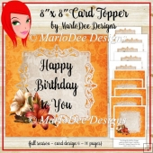 Golden 8x8 Autumn, Thanksgiving, Birthday and Blank Card Kit (BT