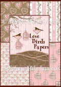 Love Birds Backing Background Papers - Commercial Use OK