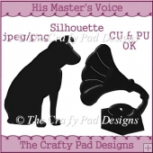His Master's Voice Grammophone & Dog Silhouettes