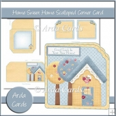 Home Sweet Home Scalloped Corner Card
