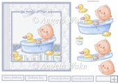 Baby boy and duck 7x7 card