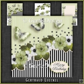Vintage Stripes and Flowers Card Kit 1096
