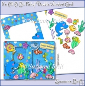 It's All A Bit Fishy! Double Window Card