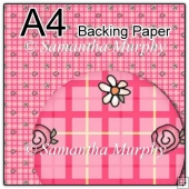 ref1_bp289 - Flowers Pink Tartan Checks