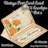 Vintage Post Card Easel Card & Envelope Set 2