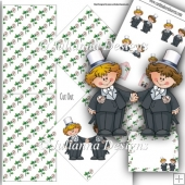 Diamond Male Civil Wedding Card
