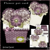 Flower Pot Stand Alone Card Kit 3