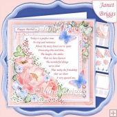 A PERFECT TIME BLUSH 7.5 Decoupage & Insert Mini Kit Various Occ