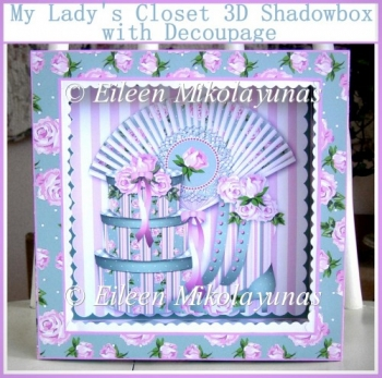 My Lady's Closet 3D Shadowbox with Decoupage and Directions