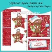 Mistletoe Easel Mouse With Pyramage