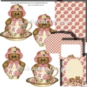 PNC GSD Beary Sweet Tea Decoupage Set