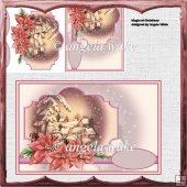 The magic of Christmas card with decoupage