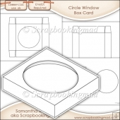 Window Box Card Circle Window Template Commercial Use OK