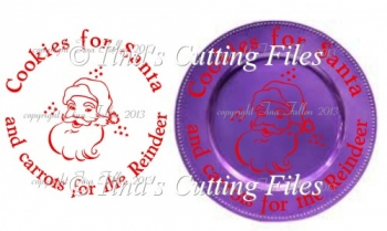 Cookies for Santa Design for Christmas Charger Plate - vinyl