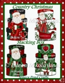 Christmas Santa Stacking Box Diecut Shapes for Toppers, Tags