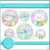 Bonnets & Bowties Plate & Cup Stickers
