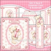Grin N Bear It Gatefold Card & Bookmark