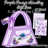 Purple Pansys Handbag Gift Box
