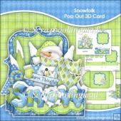 Snowfolk Pop Out 3D Card & Envelope