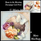 Roses in the Morning Decoupage Card Front