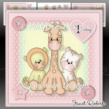 Pink Baby Animals Mini Kit