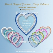 Heart-Shaped Frames - Deep Colours