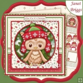 WHOO HOO IT'S CHRISTMAS 8x8 Owl Decoupage & Insert Kit