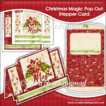 Holiday Magic Pop Out Stepper Card