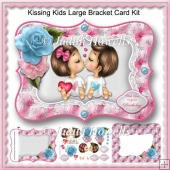 Kissing Kids Large Bracket Card Kit