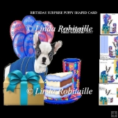 Birthday Surprise Puppy Shaped Card