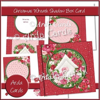 Christmas Wreath Shadow Box Card