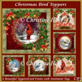 Christmas Bird Toppers Bumper Kit with Sentiments