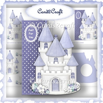 Snow castle shaped card