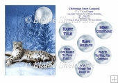 Christmas Snow Leopard - 5 x 7 Card Topper & Assorted Greetings