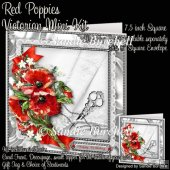 Red Poppies Victorian Mini Kit