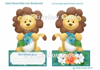 Giant Reversible Cute Lion Bookmark