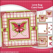 Love Bug Card Front & Insert Panel