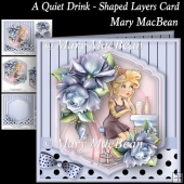 A Quiet Drink - Shaped Layers Card