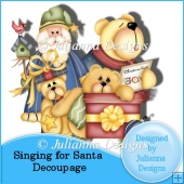 Singing for Santa Decoupage Sheet