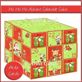 Ho Ho Ho Advent Calendar Cube