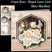 Cream Roses - Shaped Layers Card
