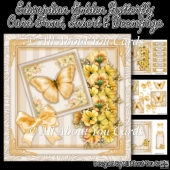 Edwardian Golden Butterfly Card Front