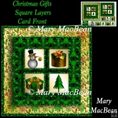 Christmas Gifts Square Layers Card Front