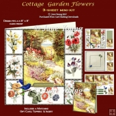 Cottage Garden Flowers - 3-Sheet Mini-Kit