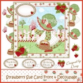 Strawberry Sue Card Front & Decoupage