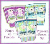 Flurry of Friends Popcorn Boxes Set