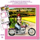 Lady Bikers Day Out For The Ladies In Your Life 6 x 6 Card Kit W